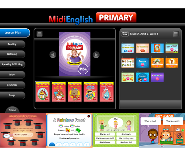 Classroom Multimedia | Primary | MidiEnglish